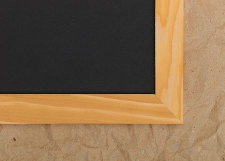 Wooden frame on the wall. Vintage background photo