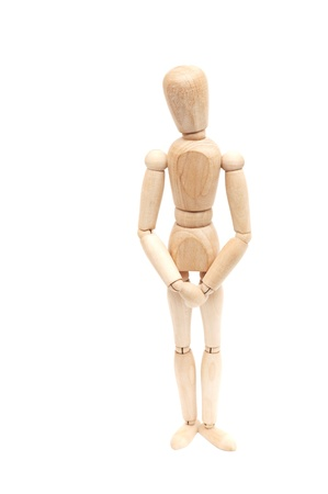 Wooden figure, isolated on a white background photo