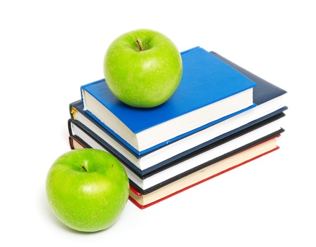 faculty: books and an apple back to school concept