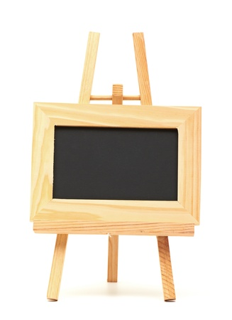 small  picture: wooden Frame isolated on a white background