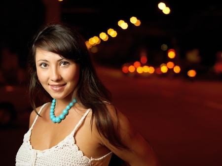 Young sexy girl on street at night Stock Photo - 10567387