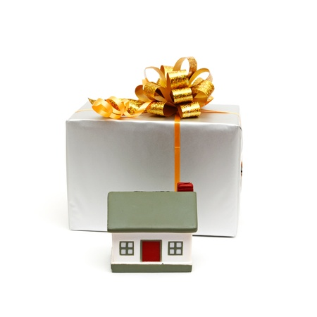 House as a gift for you isolated photo