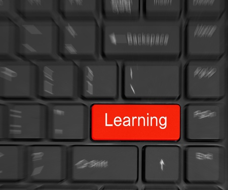 black Computer Keyboard e-Learning Concept  motion effect photo