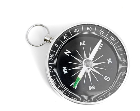 Compass black isolated on a white background