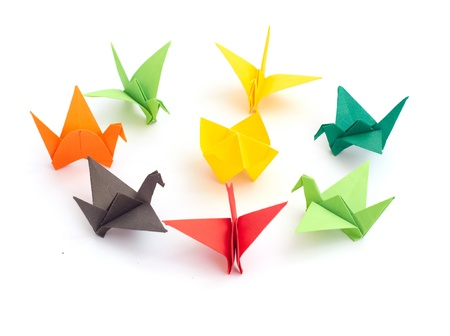 Stock Photo  origami isolated on a whit background photo