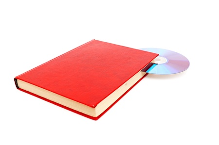 Book and disk isolated on white background Stock Photo - 13977313