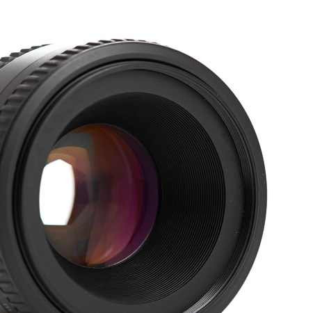 photo lens isolated on a white background photo