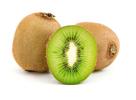 kiwi fruit isolated on a white background photo