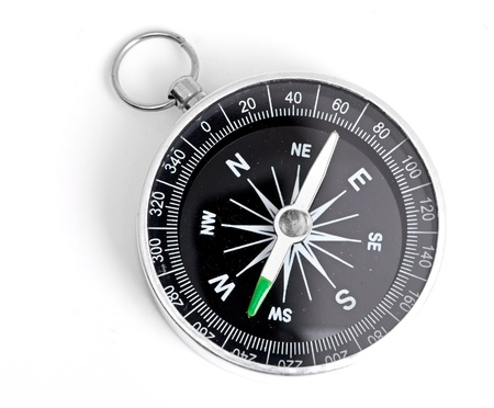 black Compass isolated on a white background
