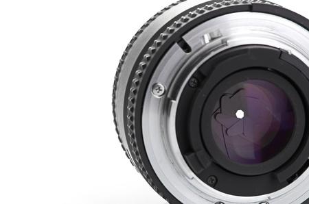photo lens isolated on a white background photo