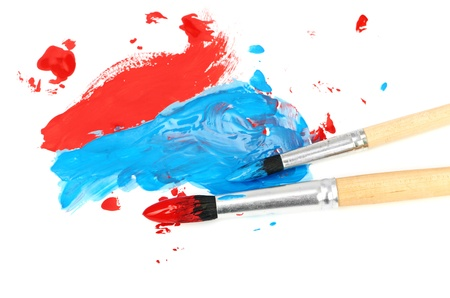 brush and paint scratch isolated on a white background photo