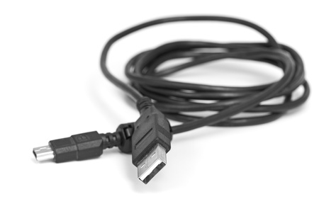 USB cable isolated on a white background photo