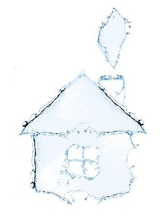 Cottage  New little cottage made from water splash photo