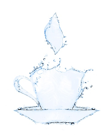 coffee cup making from water splash iisolated photo
