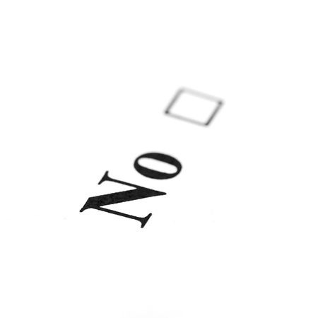 no word isolated on a white background photo