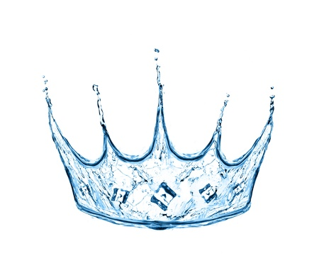 crown made from water splash isolated on white photo