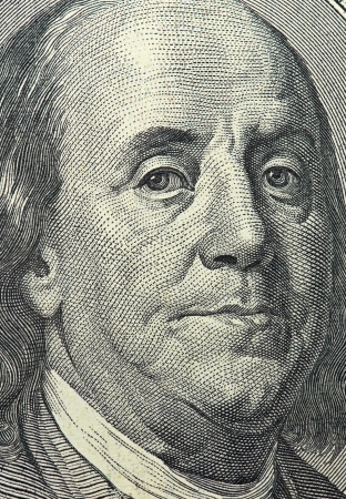 dolar: dollar macro  100 money face Editorial