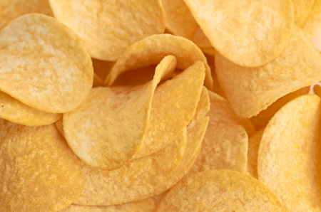 Potato chips background gold color Stock Photo - 15045642