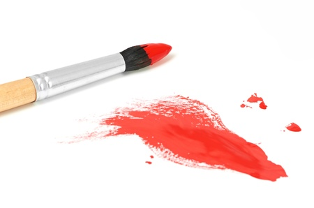 brash: brush and paint scratch isolated on a white background