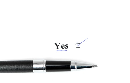 yes word isolated on a white background Stock Photo - 15031434