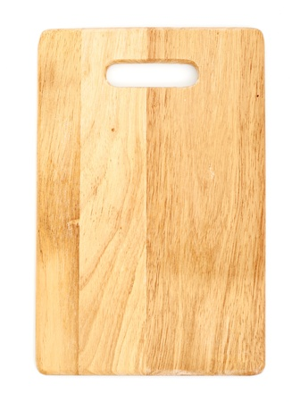 wood cut: Wooden cutting board isolated on white background
