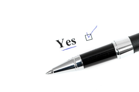 yes word Stock Photo - 15471439