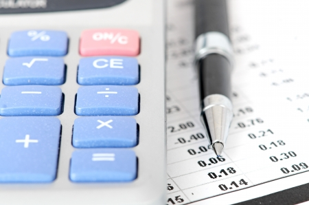 pen and calculator photo