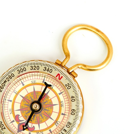 old styled: old styled, gold compass Stock Photo
