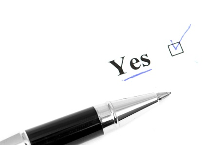 yes word Stock Photo - 15775490