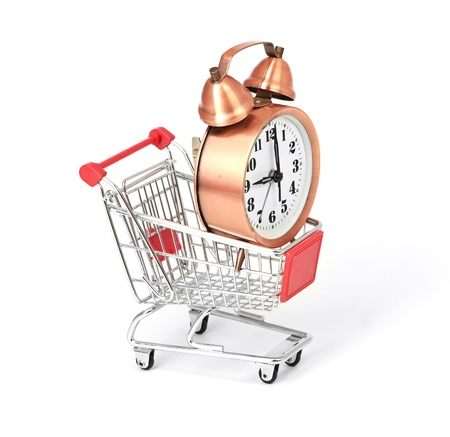 shopping cart with clock Stock Photo - 15776250