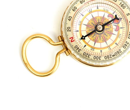 old styled, gold compass photo