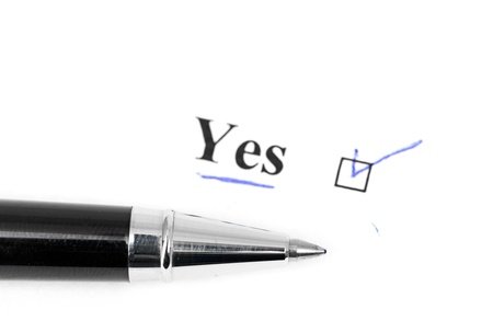 yes word Stock Photo - 16034784
