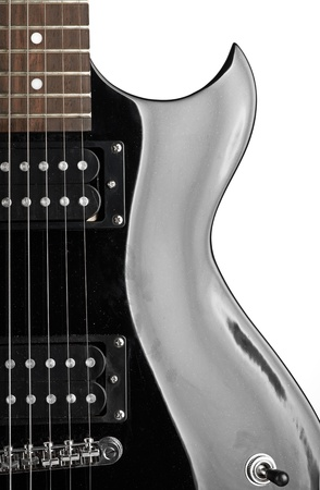 Electric guitar close-up on white Stock Photo - 16157581