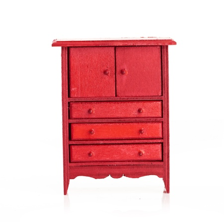 red cabinet for children photo