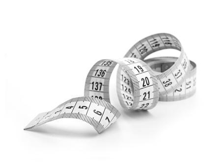 instrument of measurement: white tape measuring Stock Photo