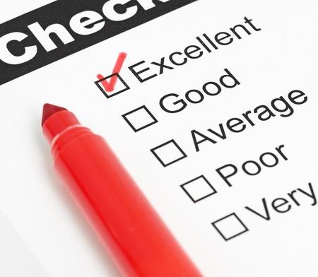 checkbox: Tick ??messo in casella eccellente cliente