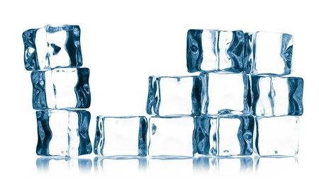 ice cubes isolated on white Stock Photo - 16157432