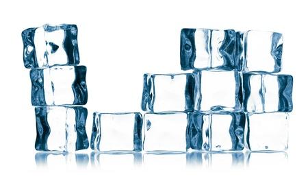 ice cubes isolated on white Stock Photo - 16157432