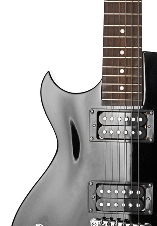 Electric guitar close-up photo