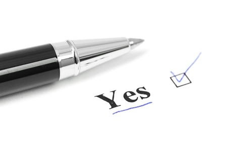 yes word Stock Photo - 16288404