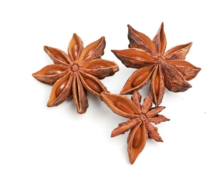 herbe: star anise isolated on a white background Stock Photo