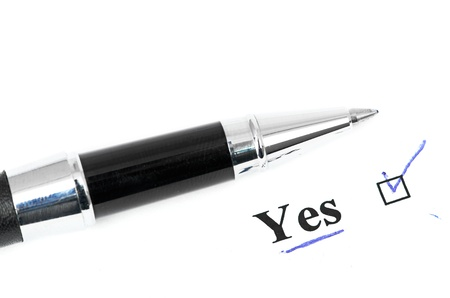 yes word Stock Photo - 16536489
