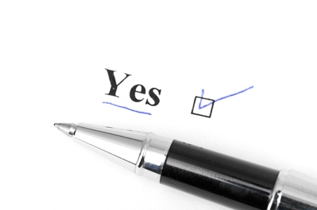 yes word Stock Photo - 16782609