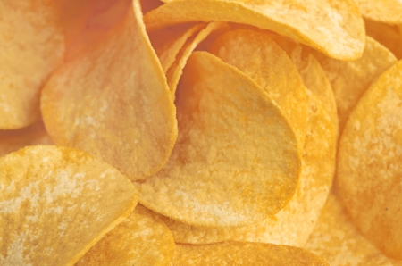 Potato chips background Stock Photo - 17004565