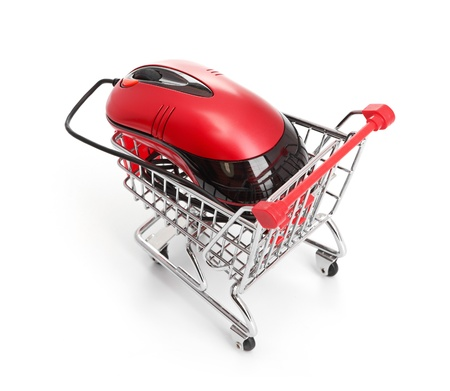 Online Internet Shopping   isolated on white background Stock Photo - 17001893