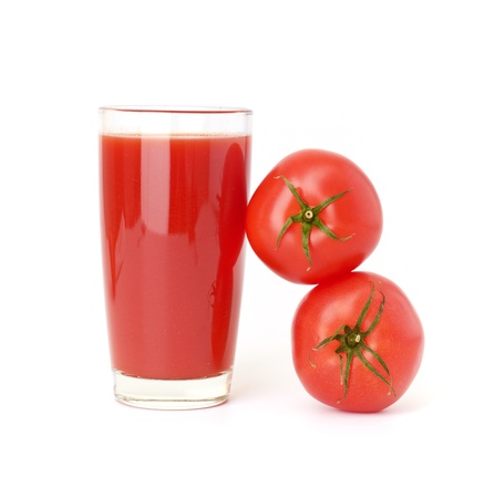 Tomatoes juice and group from tomatoes Stock Photo - 17001689