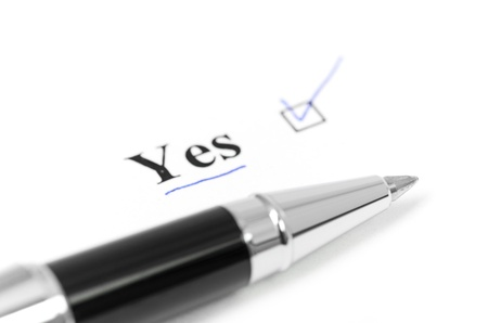 yes word Stock Photo - 17001645
