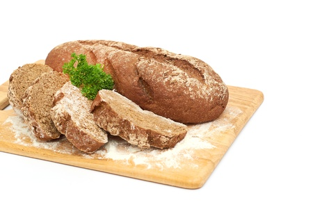 Fresh bread with ear of wheat Stock Photo - 17149896