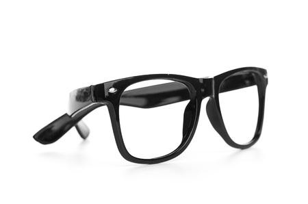 ray ban: black glasses on a white background
