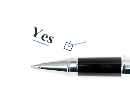 yes word Stock Photo - 17548574